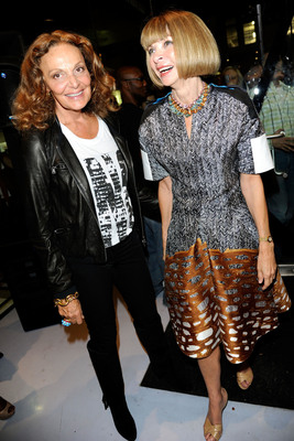 "Diane von Furstenberg (left) and Anna Wintour (right) lead the CFDA/Vogue Fashion Fund selection committee and will be featured in the new television series ""The Fashion Fund"" set to premiere this December on Ovation. Photo credit: Getty Images/Karl Walter.  (PRNewsFoto/Ovation, Getty Images/Karl Walter)"