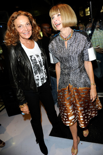 Diane von Furstenberg (left) and Anna Wintour (right) lead the CFDA/Vogue Fashion Fund selection committee and ...