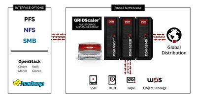 GridScaler File Storage Appliance Family with Interfaces
