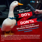 Share your Red Carpet Do's and Don'ts with the Aflac Duck on Instagram for a chance to win a set of wireless headphones.