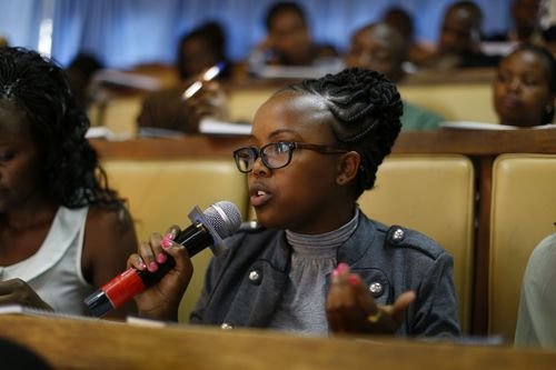A medical student participates in the EXCEMED CME Tour of Africa at the University of Nairobi Faculty of ...