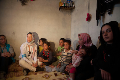 Lucy Liu Visits Lebanon to Shine Spotlight on Plight of Syrian Refugee Children.  (PRNewsFoto/U.S. Fund for UNICEF, Sarah Hunter)