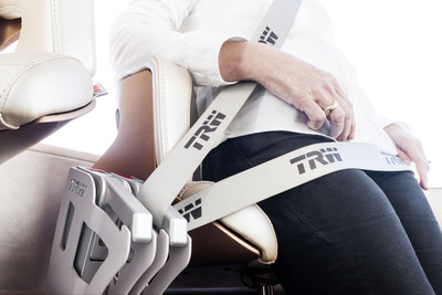 TRW is unveiling a new seat belt system concept that offers semi-automatic buckling versus the traditional buckle and tongue, helping to increase belt usage rates over short distances for the urban commuter vehicles of the future. (PRNewsFoto/TRW Automotive Holdings Corp.) (PRNewsFoto/TRW AUTOMOTIVE HOLDINGS CORP.)