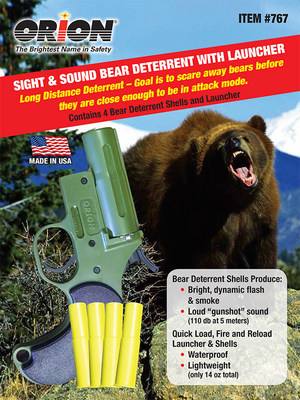 New Bear Deterrent From Orion Safety Products Offers Long