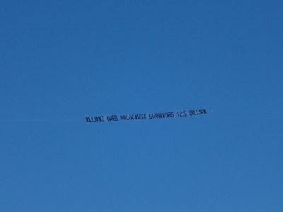 Aerial Banner Over Allianz Golf Tournament