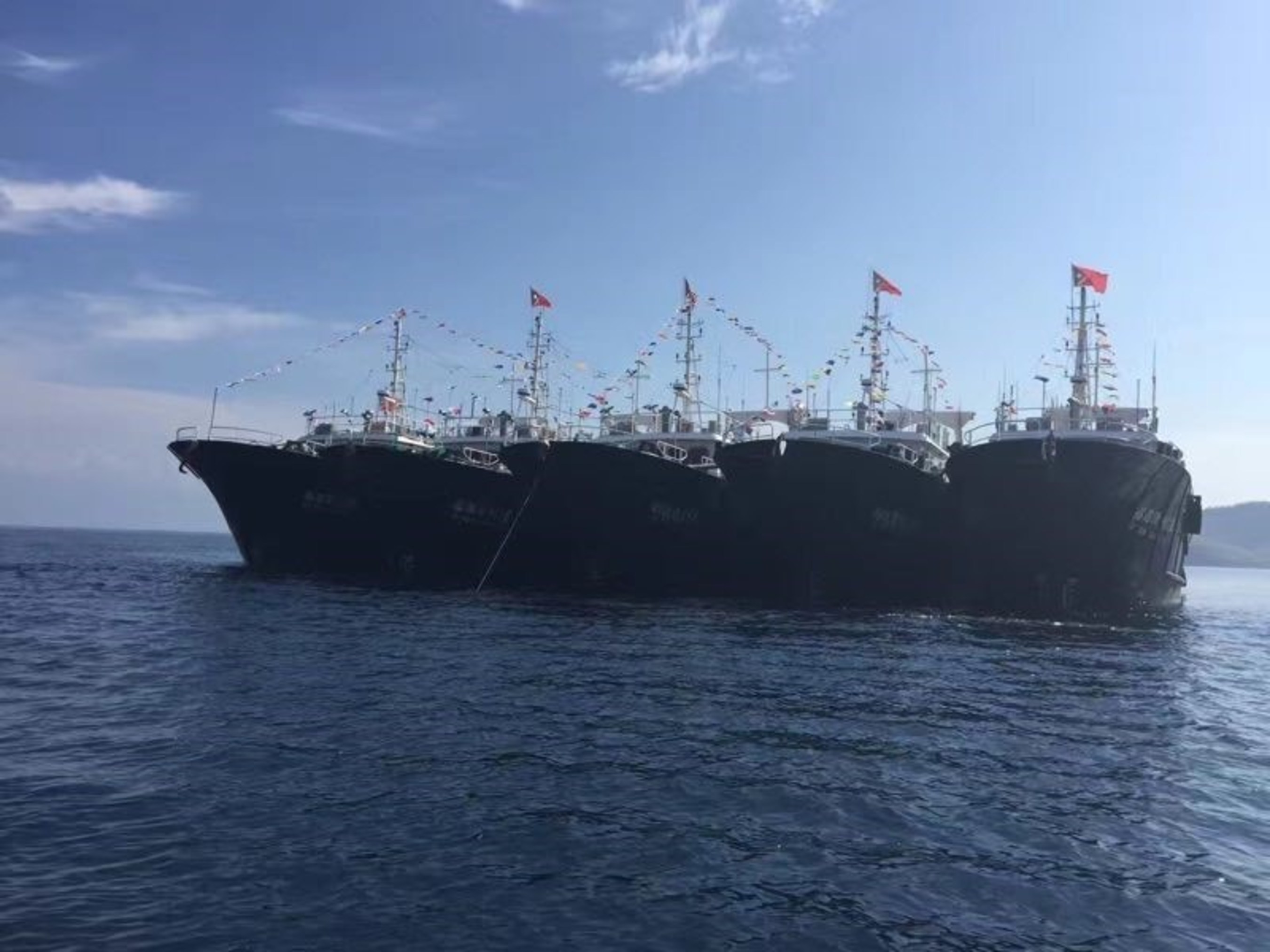 Pingtan's fishing vessels after arriving in Indo-Pacific waters