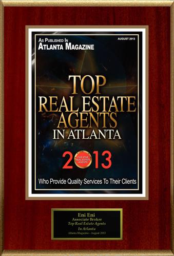 "Eni Eni Selected For ""Top Real Estate Agents In Atlanta"". (PRNewsFoto/American Registry) ..."