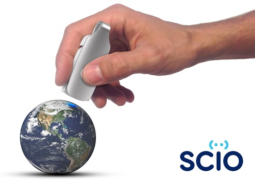 SCiO is the world's first handheld sensor that scans the molecular fingerprint of physical matter and instantly provides useful information about its chemical makeup. Pre-order your SCiO or your own SCiO development kit on Kickstarter today! (PRNewsFoto/Consumer Physics)
