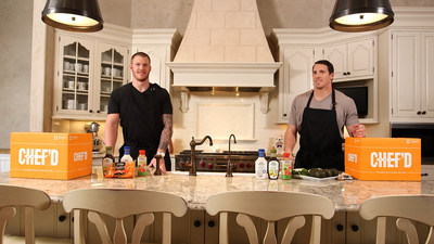 "NFL Players Kyle Rudolph and Chad Greenway Demonstrate their Kitchen Skills in a ""Big Game Party in a Box"" Cook-Off Competition Viewable on Chefd.com/partybox and featuring Bolthouse Farms(R) products"