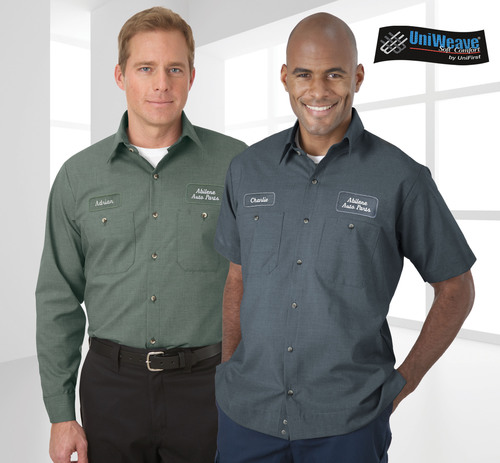 Studies show that custom branded work uniforms help businesses project a more professional look that influences customers to make purchases.  (PRNewsFoto/UniFirst)