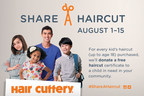 For every haircut purchased (up to age 18), Hair Cuttery will donate a free haircut certificate to a child in need in that same community.