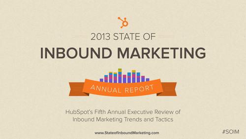 HubSpot's State of Inbound Marketing Report.  (PRNewsFoto/HubSpot)