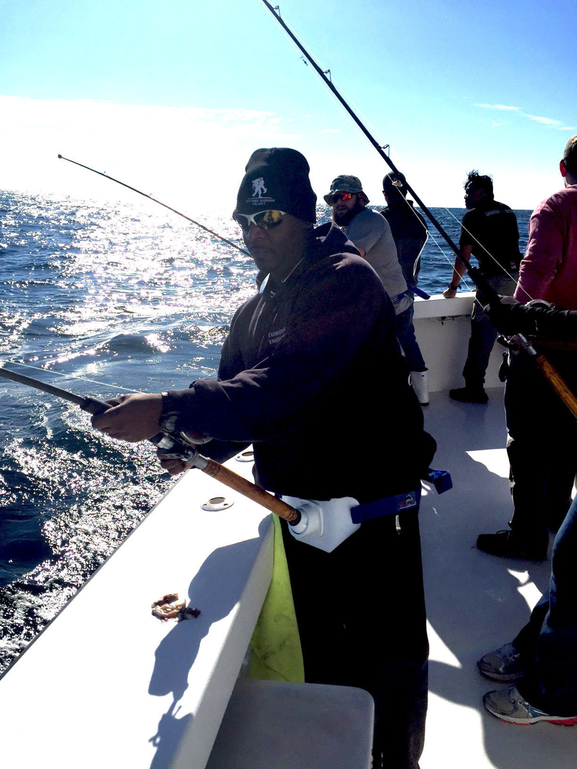 The injured veterans were responsible for catching their dinner.