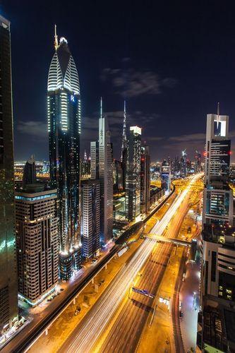 Dubai Night Rush Hour