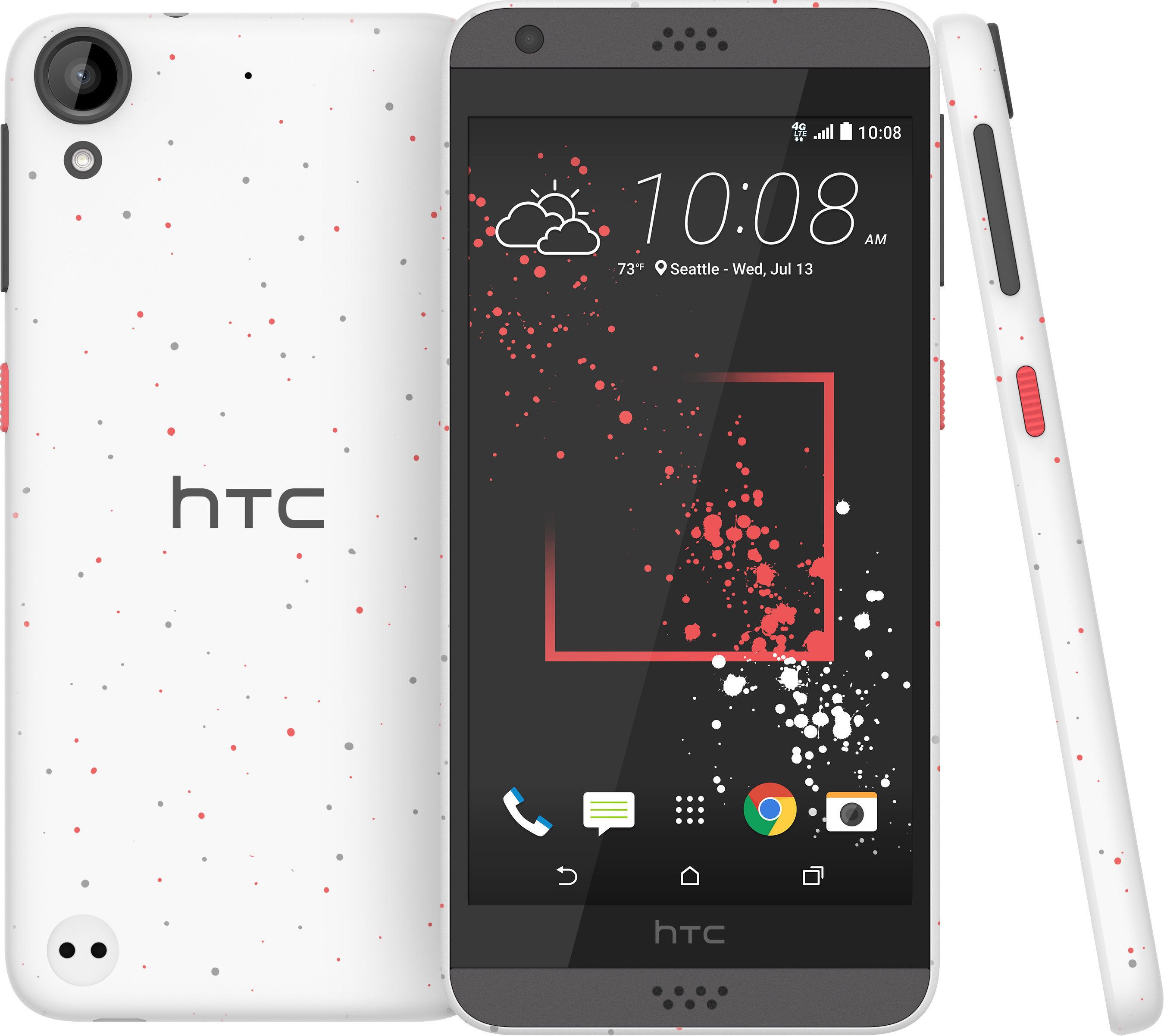 HTC Desire 530 smartphone with unique micro splash styling, impressive audio and great cameras.