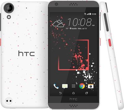 HTC Desire 530 smartphone with unique micro splash styling, impressive audio and great cameras.