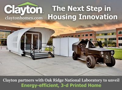 Clayton Homes teamed up with ORNL to produce a 3-D printed concept home!