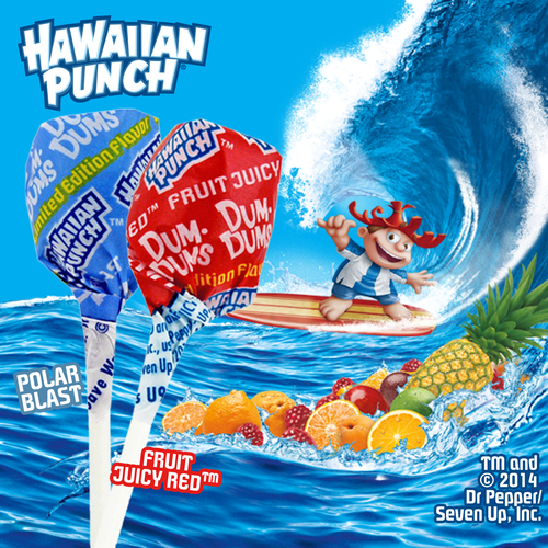 Dum Dums is splashing into summer with two limited edition flavors from Hawaiian Punch.  Hawaiian Punch's ...
