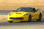 The new Chevrolet Corvette Stingray takes to the track at one of Hooked on Driving's events. Corvette is a new partner with Hooked on Driving at its six regional locations, offering participants a chance to experience this state-of-the-art sports car up close.  (PRNewsFoto/Hooked on Driving)
