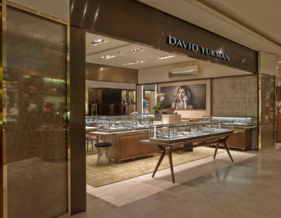 David Yurman Boutique Exterior Shot at Galeries Lafayette in Paris, France. Photo Credit: Marc Domage