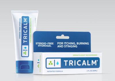 TriCalm, steroid-free hydrogel for itching, burning and stinging.  (PRNewsFoto/Cosmederm Bioscience)