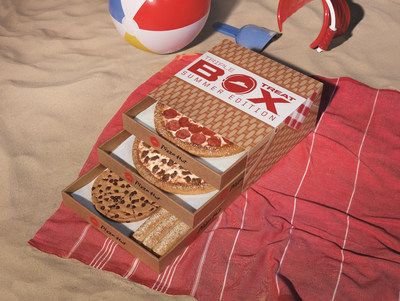 Just in time for National Picnic Day on June 18, Pizza Hut is introducing the Triple Treat Box: Summer Edition, a picnic-themed, tri-level pizza box featuring two medium one-topping pizzas, an order of breadsticks and The Ultimate HERSHEY'S Chocolate Chip Cookie, all in one easy box for just $19.99.
