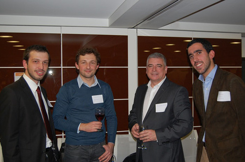 From left to right: Winners of the Thomson Reuters Life Sciences Big Data Innovation Challenge: Panagiotis ...