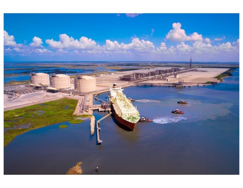 Cameron LNG receipt terminal in Hackberry, La. and the future natural gas liquefaction export facility. ...