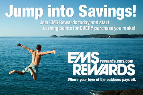 EMS Rewards members earn points on every purchase they make at Eastern Mountain Sports' 69 retail ...