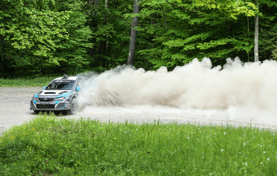 David Higgins and Craig Drew of Subaru Rally Team USA won STPR, the fourth round of the Rally America Championship.