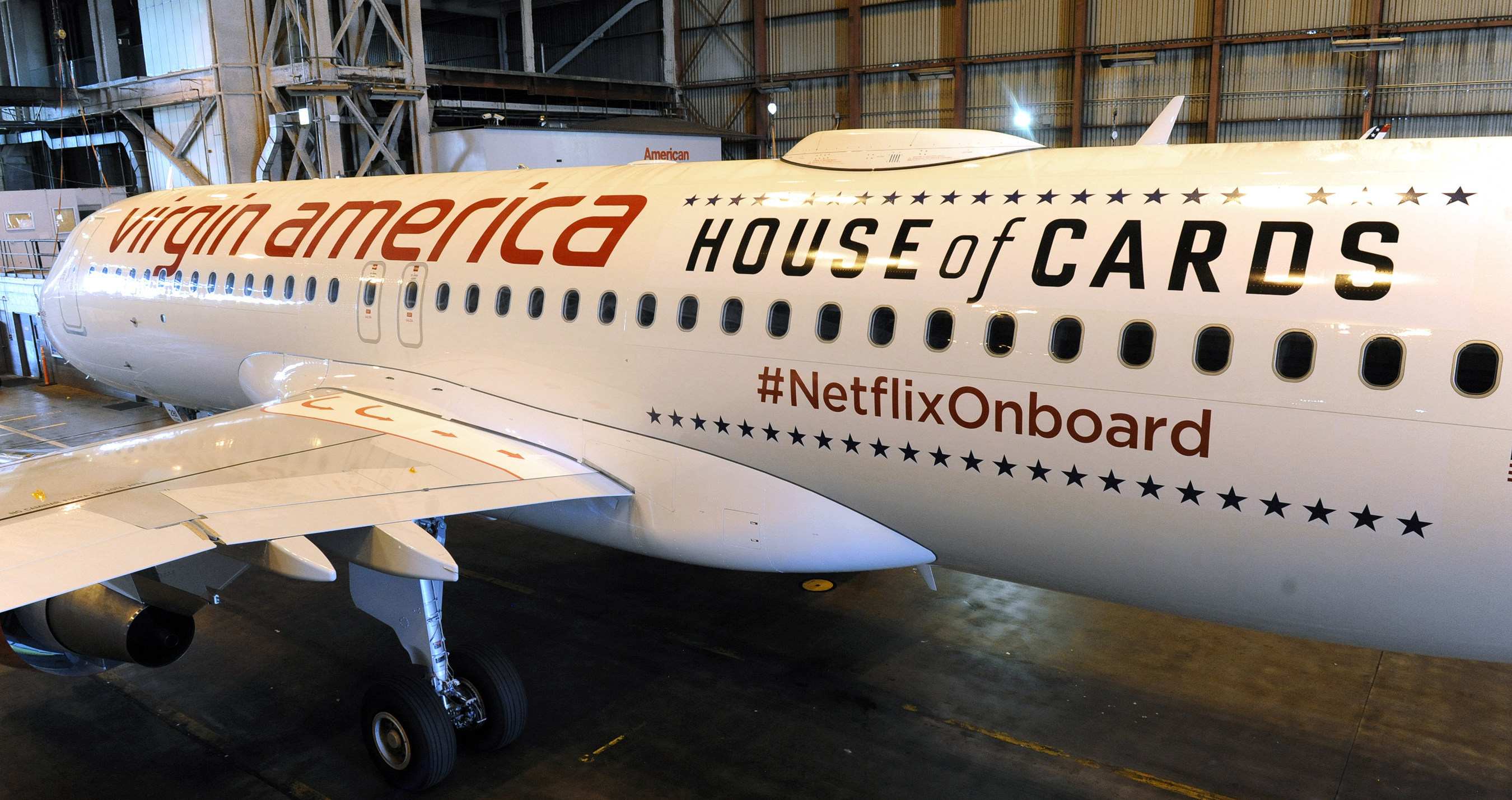 Now Streaming Netflix - At 35,000 Feet: Virgin America Teams Up With Netflix To Offer Travelers Free WiFi Access To The World's Leading Internet TV Network