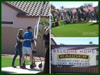 Sgt. First Class Cory Remsburg is welcomed into his new home by President Obama, charitable organizations and media crews on Friday March 13, 2015  in Gilbert, Ariz.