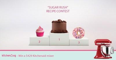 "Enter Kitchenbug's ""Sugar Rush"" contest for your chance to win a KitchenAid mixer. (PRNewsFoto/Kitchenbug)"