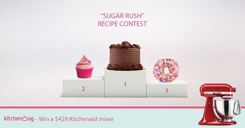 """Enter Kitchenbug's """"Sugar Rush"""" contest for your chance to win a KitchenAid mixer. ..."""