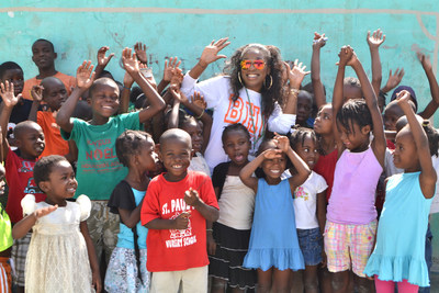 Tourissa Joseph, BHG customer support specialist, traveled to Haiti to meet the children at Orphelinat de Fondation Sens Universel et Damabiah (FSUD).
