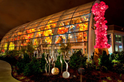 Renowned artist Dale Chihuly showcases the most comprehensive collection of his artwork anywhere in Seattle's Chihuly Garden and Glass.  The exhibition opens on Monday, May 21, 2012.  (PRNewsFoto/Chihuly Garden and Glass)