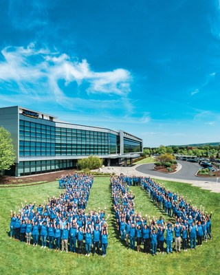 Olympus employees celebrate the 10-year anniversary of its North and South American Headquarters in Center Valley, Pa.