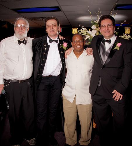 L-R John Draper, Tolga Katas, Garianno Lorenzo, Kevin Mitnick.  (PRNewsFoto/UNCORE)