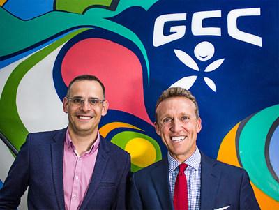 GCC CEO Tom Sermon (L) and Founder Glenn Riseley (R)