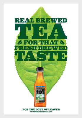 Pure Leaf: Real Brewed Tea For That Fresh Brewed Taste.  (PRNewsFoto/Pure Leaf Iced Tea)