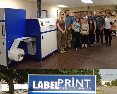The Label Print Technologies team with their Epson SurePress.