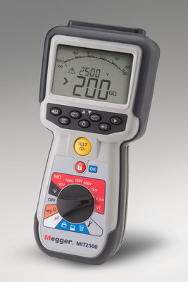 New Handheld Insulation Tester from Megger Is Rated to 2.5 kV