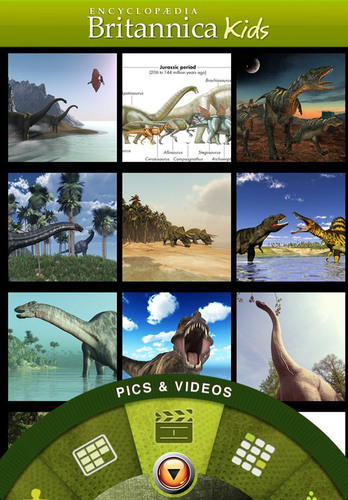 Dinosaurs, a new app from Encyclopaedia Britannica.  (PRNewsFoto/Encyclopaedia Britannica, Inc.)