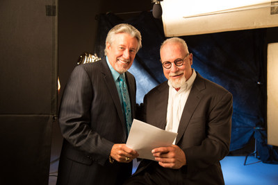 Charles Mankamyer, SVP of United American Insurance Co. with Randy White, new spokesperson for United American Insurance Co.