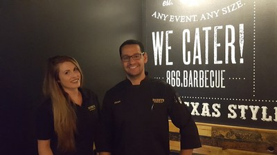 Haley and Steven Frydrych open Dickey's Barbecue Pit on Thursday in Yucca Valley