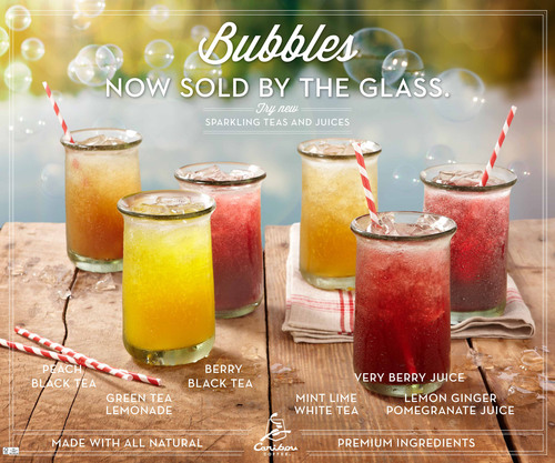 Caribou Coffee Officially Kicks-Off Summer with Launch of New Sparkling Teas and Juices