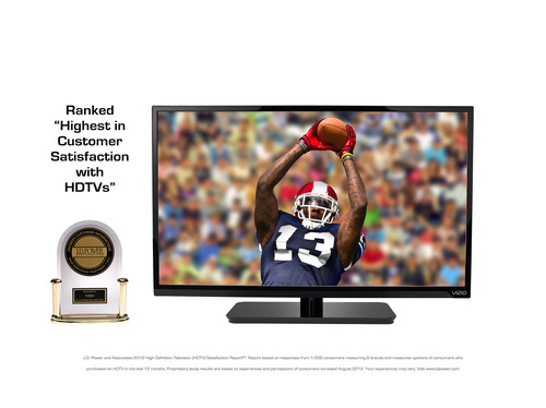 "VIZIO Receives ""Highest In Customer Satisfaction With HDTVs"" Ranking From J.D. Power and ..."