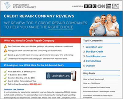 Credit-Repair-Companies.com Launches its Brand New and Easy-to-Navigate Website.  (PRNewsFoto/Credit-Repair-Companies.com)