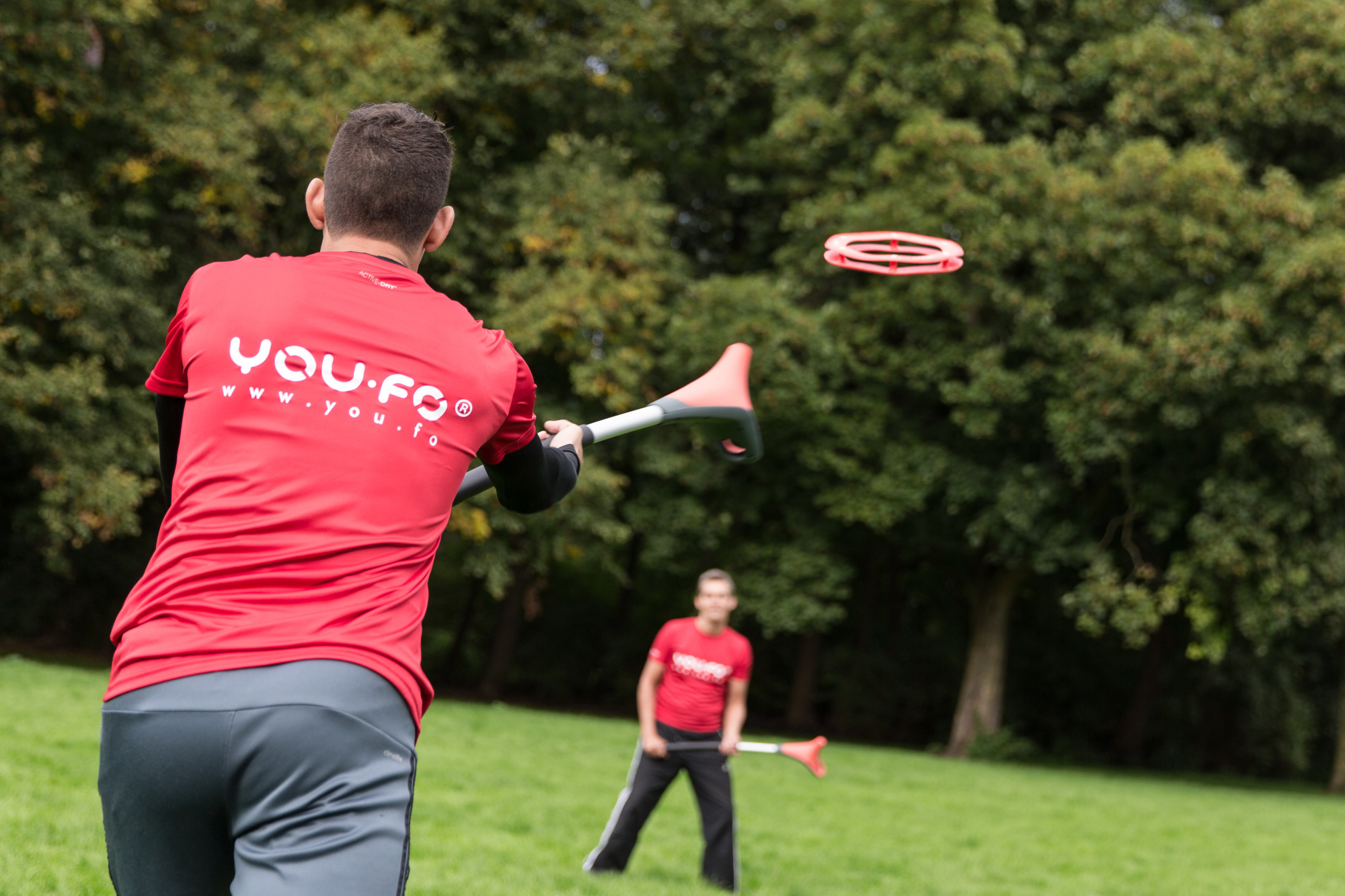 YOU.FO, a new sport that's a cross between lacrosse and frisbee.