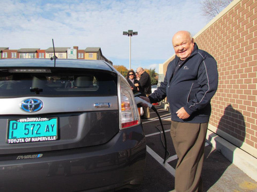 Toyota of Naperville Welcomes the City of Naperville's First EV Charging Station